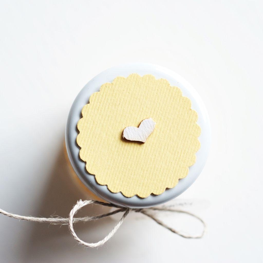 pokrywka słoiczka cytrynowy żółty