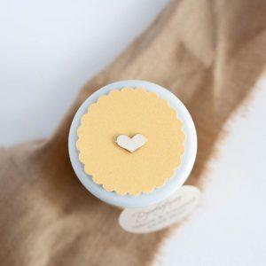 pokryawka słoiczka pastelowy żółty