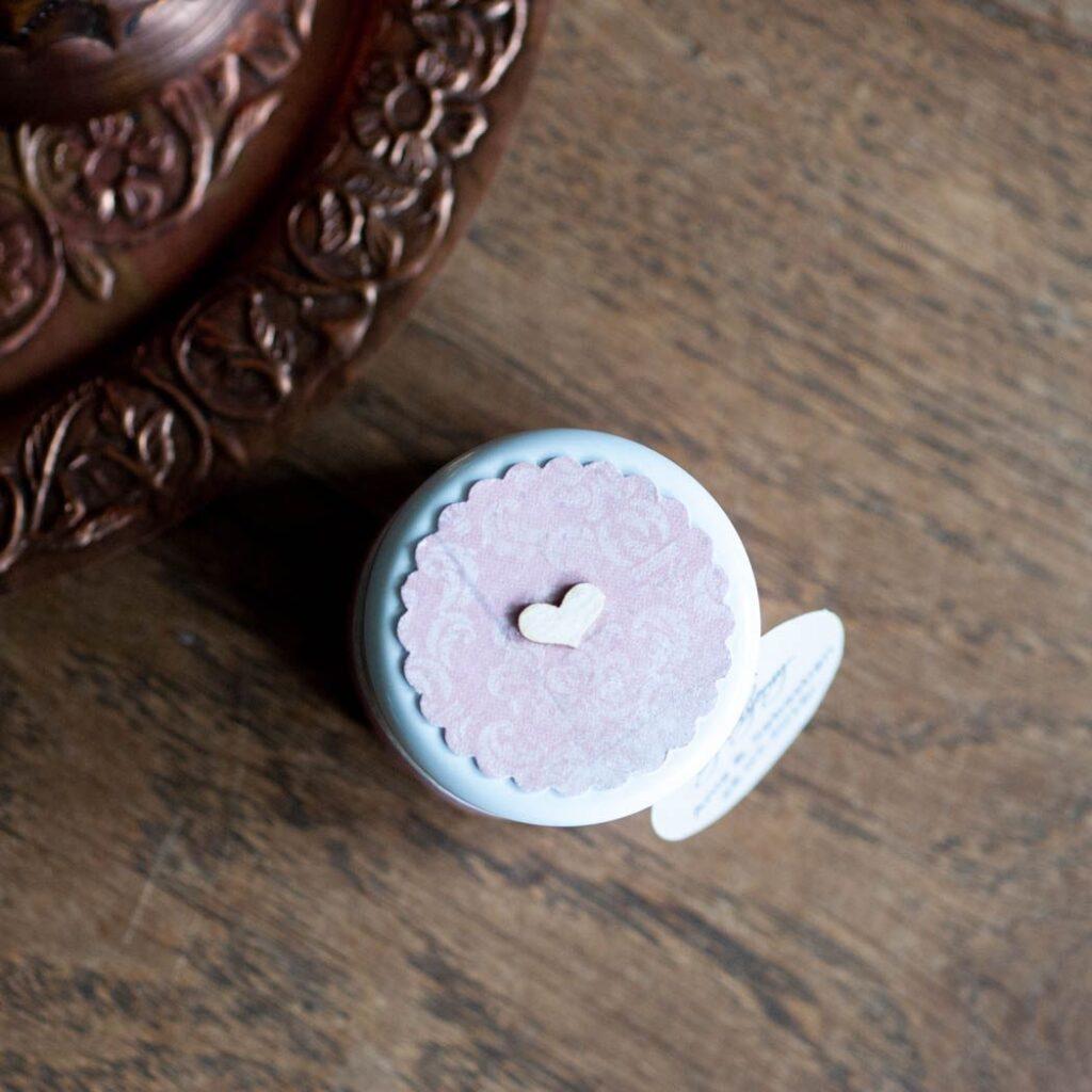 pokrywka słoiczka vintage brudny róż
