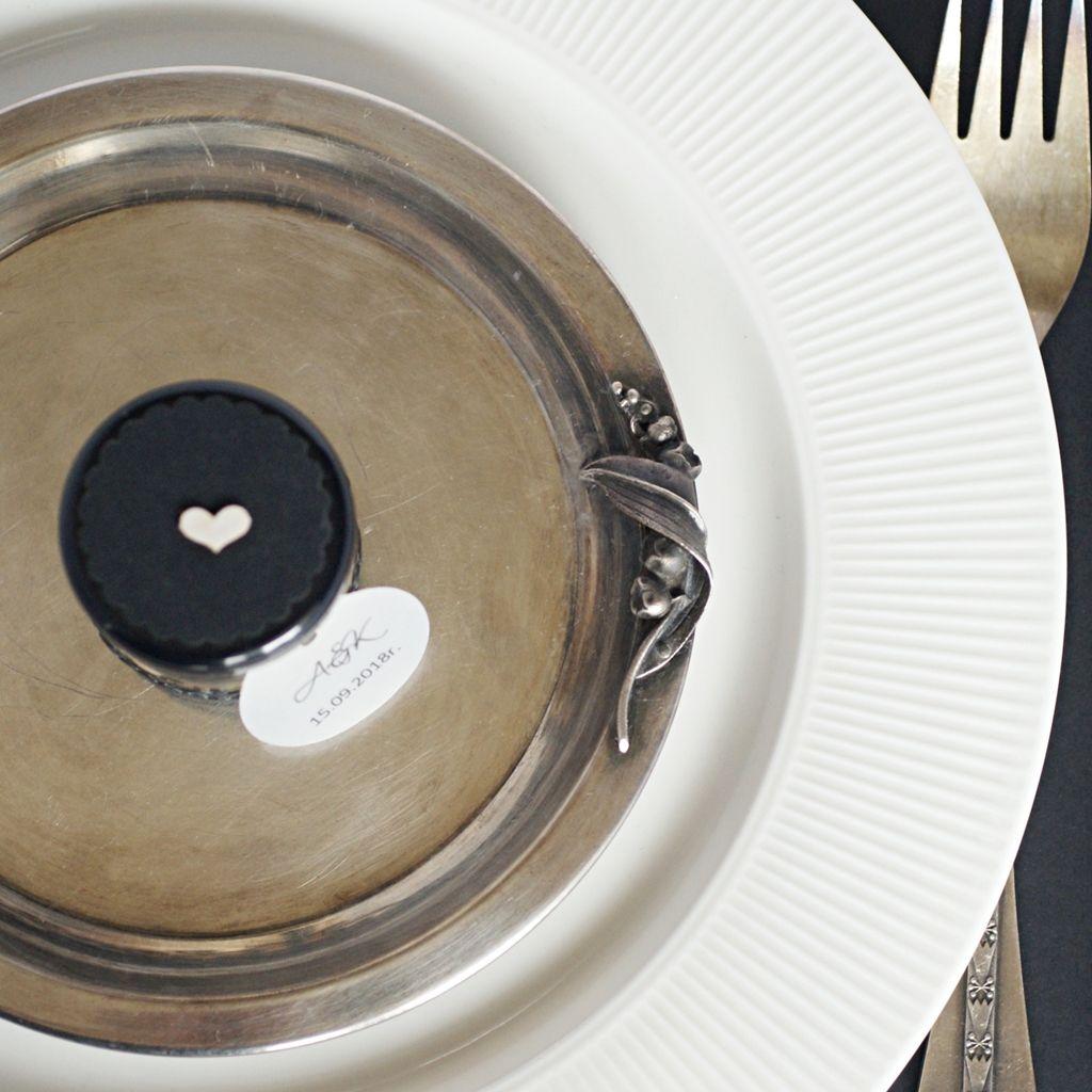 pokrywka słoiczka klasyczna czerń