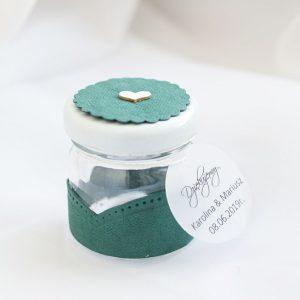 słoiczek pusty washpapa butelkowa zieleń