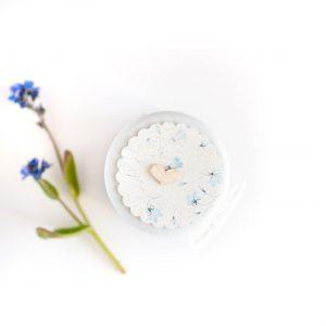 Pokrywka słoiczka błękitne kwiatki