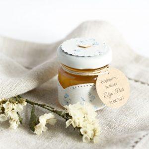 Słoiczek z miodem błękitne kwiatki