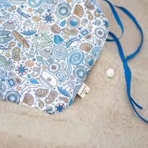 bawełna morski print