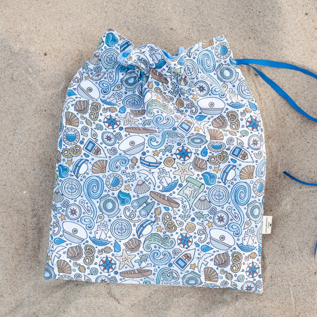 bawełniany woreczek morski print