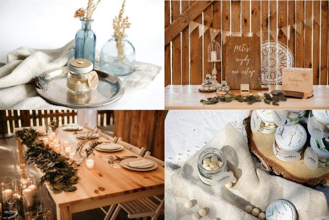podziękowania dla gości wesele rustykalne boho słoiczek