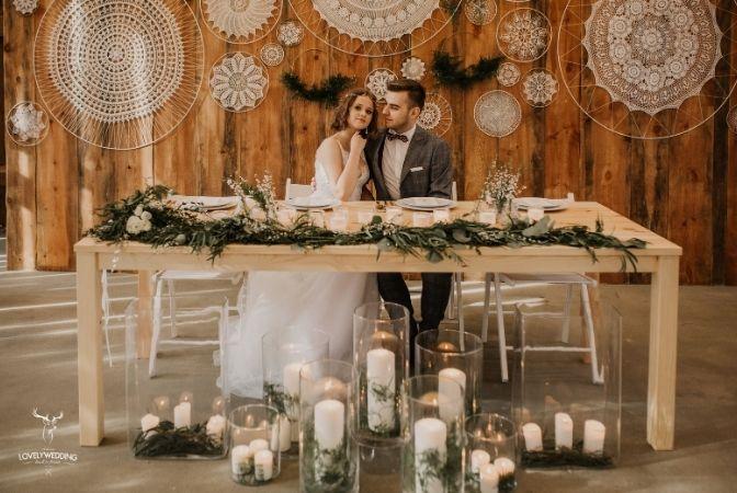 wesele rustykalne boho słoiczek podziękowania