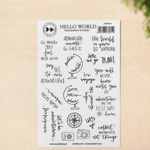 Naklejki Hello world