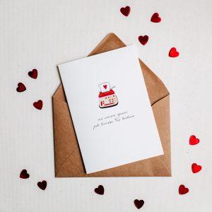kartka walentynkowa list miłosny