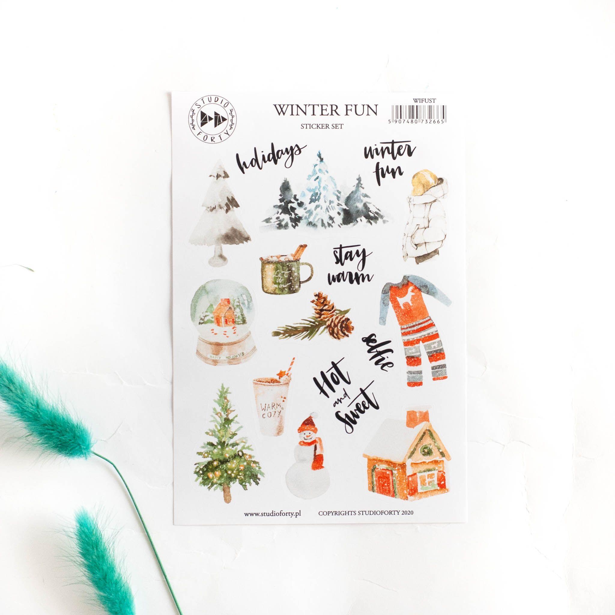 naklejki winter fun