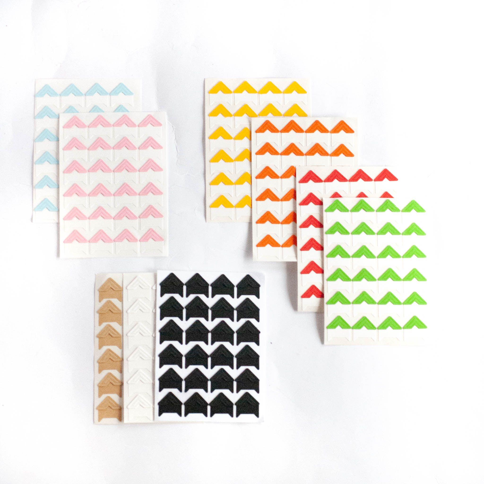 narożniki do zdjęć różne kolory