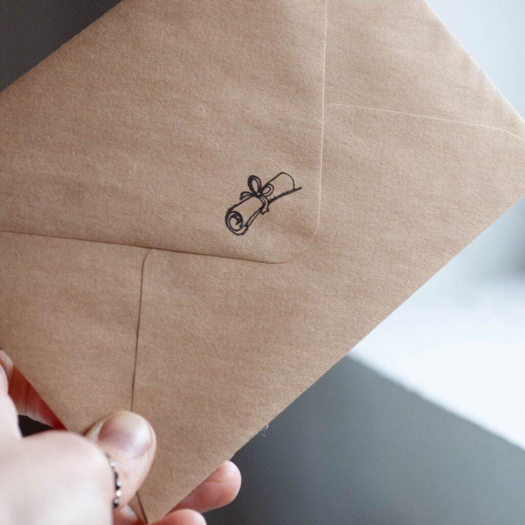 kartka z życzeniami koperta