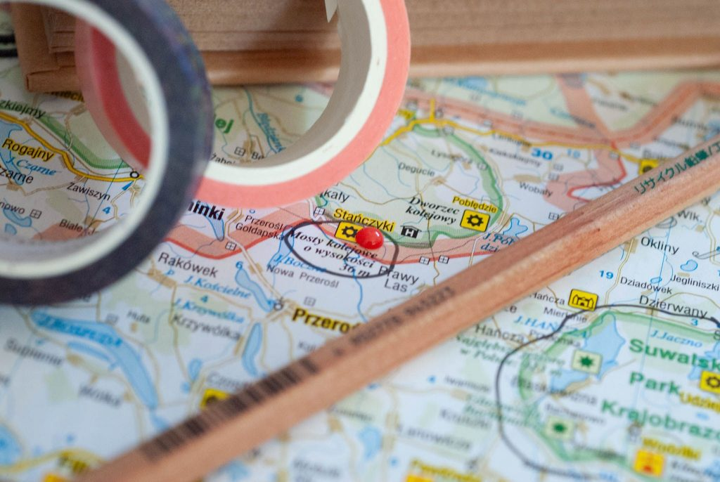 mapa i podróże
