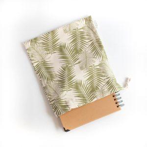 bawełniany woreczek w liście